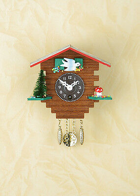 Pendulum Clock Wooden House Black Forest Kuckuckuhren Made in Germany 32 PQ
