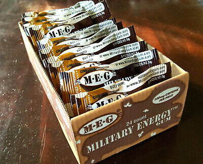 Military Energy Gum - Cinammon Tray 24pk 100mg Caffeine Chewn Gum Prepper energy