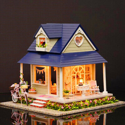 [NEW] CuteRoom DIY Wooden Dollhouse Miniature With House Furniture Toy Gift For