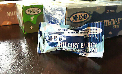 Military Energy Gum - 1PKT Peppermint 100mg Caffeinated Chewing Gum stay alert