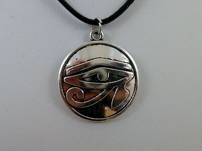 "Egyptian Eye of Horus Protection Rah Pendant 18"" Cord Pagan Wicca Occult 2"
