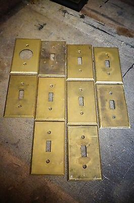 Antique Vintage Light Switch Covers Old Home Solid Brass Plates Architectural