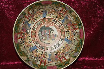 Stunningly Detailed Antique Porcelain Chinese Bowl With Qianlong Maker Mark
