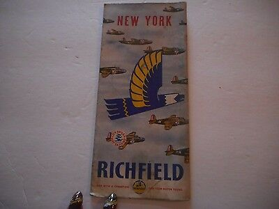 Vintage Richfield Road Map New York 1940
