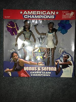 Venus and Serena Williams Championship dolls in box mint with their autographs