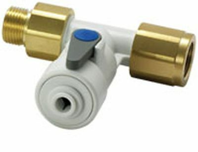 """JOHN GUEST ASV10 ANGLE STOP VALVE 1/2"""" BSP x 1/4"""" TEE CONECTOR FOR WATER FILTERS"""