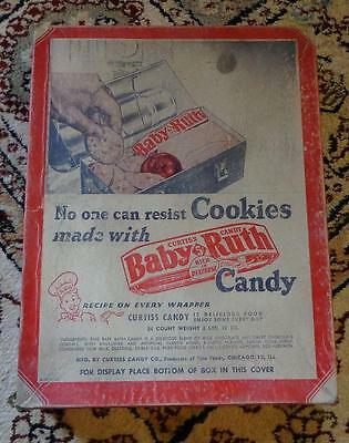 1940s Vintage BABY RUTH CANDY Store Advertising Display Box UNUSUAL VARIANT