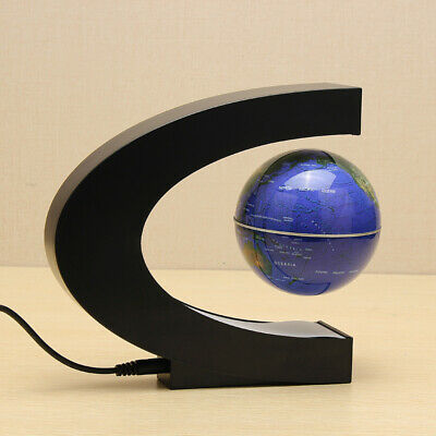 [NEW] 1Color Only C Shape Magnetic Levitation Floating Globe World Map With LED