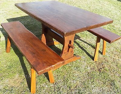 Outstanding Hunt Country Furniture Trestle Table Benches Harvest Farm Gmtry Best Dining Table And Chair Ideas Images Gmtryco