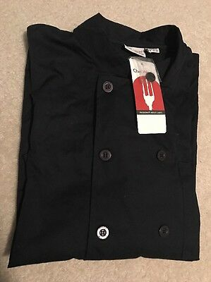 New Chef Works CCBA-NAV Basic Chef Coat, Navy, Size XL