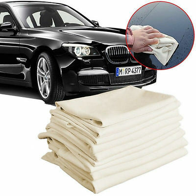 4Size Artificial Shammy Chamois Leather Car Cleaning Towels Drying Washing Cloth