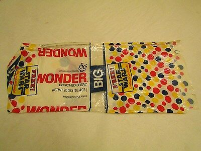 Wonder Bread Star Wars Bread Wrapper Bag