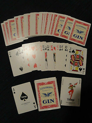 (653) Vintage Standard Deck Playing Cards FLEISCHMANNS GIN  Full
