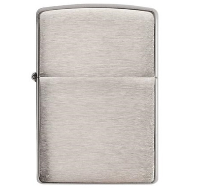zippo lighter 200 Classic Brushed Chrome  / Genuine