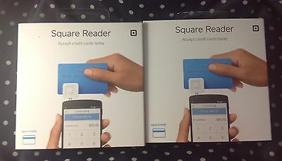 2 Square Reader Smartphone Credit Card Scanners Lot of 2