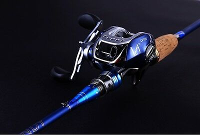 2.1m Ultra Light Two Sections 99% Carbon Fiber Fishing Rod Fast Action 11BB Reel
