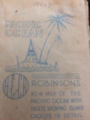 Robinsons' New Map Of The Pacific Ocean 1943