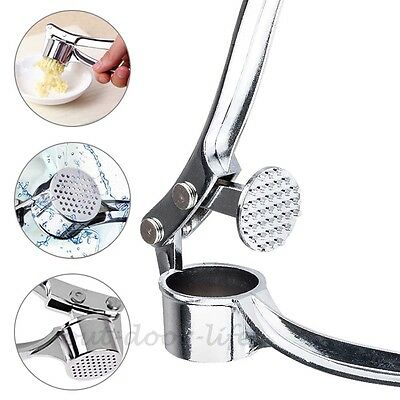 Stainless Steel Garlic Press Crusher Squeezer Masher Home Kitchen Minc