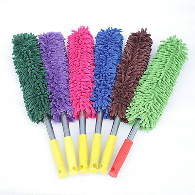 Car Cleaning Duster Chenille Mop Waxing Washing Brush Handle Dust Remover Random