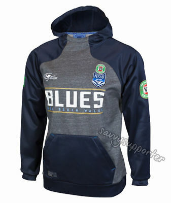 NSW Blues State of Origin 2017 Players Performance Hoodie Hoody Adults & Kids