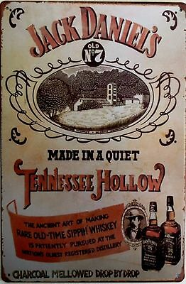 Jack Daniels Retro Metal Sign -Old No7 Made in a quiet Tennessee Hollow.(03948)