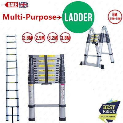 2.6M2.9M3.2M5.0M Multi-Purpose Aluminium Telescopic Ladder Extension Extendable