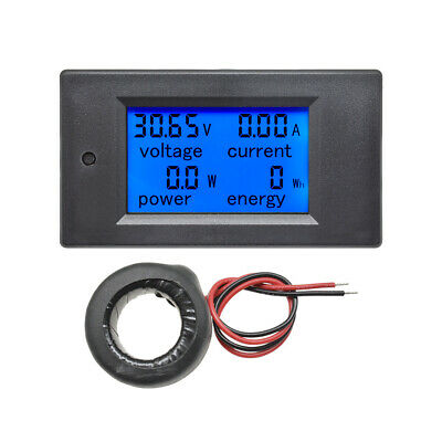 AC 80-260V LCD Digital 0-100A Volt Watt Power Meter Ammeter Voltmeter + CT