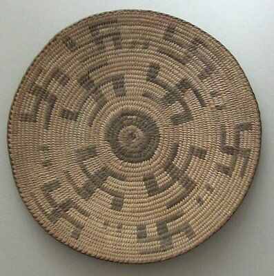 Native American Indian antique Pima basket tray