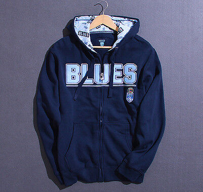 New South Wales Blues Mens Zip Up Hoodie