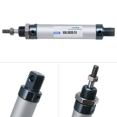 MAL16-50-CA Single Rod Air Cylinder Double Acting Mini Pneumatic 16mm x 50mm New