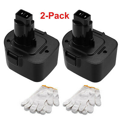 2Pack 12V 3000mAh Ni-MH Battery for Black & Decker PS130 A9252 A9275 PS130A