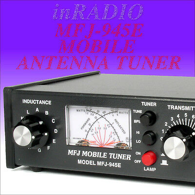 Mfj-945E Mobile Antenna Tuner Hf+6M 300W Xmtr Ant. Bypass + Fast Ups Delivery