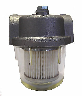 """1/4"""" Filter Heating Oil or Boiler Tank- Clear Bowl WASP W-4"""