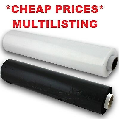 Clear/black Pallet Wrap Strong Stretch Shrink Parcel Packaging Cling Film 400Mm