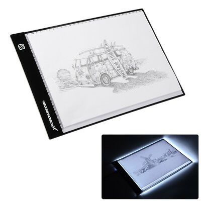 A4 LED Draw Tracing Copy Board Stencil Light Box Thin + Adjustable Holder AH300