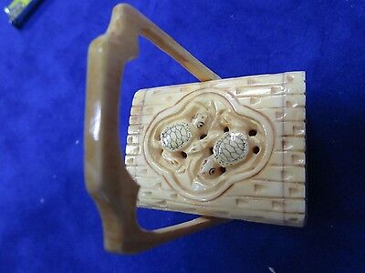 CHINESE HAND CARVED  Bovine BONE NOT IVORY, CRICKET CAGE