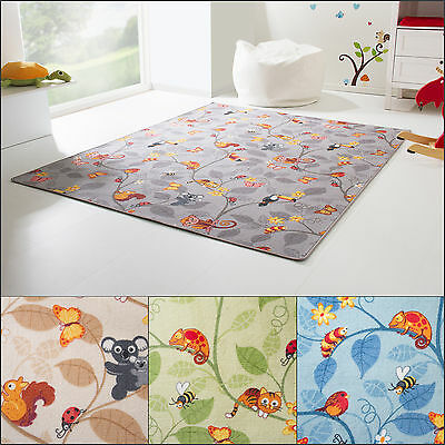 Kids Rug Funny Forest - Cute Little Animals From Around The World