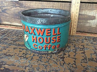 Vintage Maxwell House Coffee One Pound Coffee Can , Fresh , Advertising