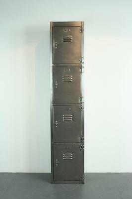 Vintage Industrial Stripped And Polished Steel School Locker Cabinet #1972