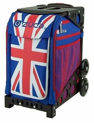 Zuca Union Jack Bag with BLACK Frame- NEW - Figure skating trolley bag