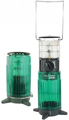 Lumiglow Portable Camping Gas Lantern green / high impact plastic and steel -
