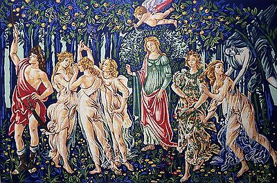 Needlepoint tapestry gobelin printed canvas  La primavera di Botticelli Spring