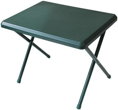 Low Profile Lightweight Resin Camping Table White/ Green 40 x 52 x 37 cm -