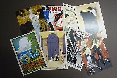 "Set of 8 new postcards ""Art Deco"" posters and illustrations"