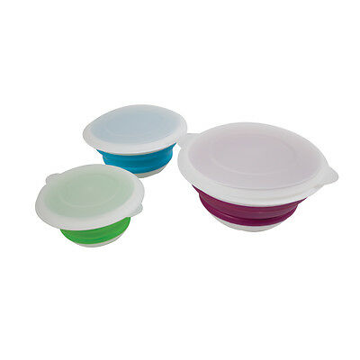 Collapsible Bowl Set - Space Saving - 3 Pack - Yellowstone
