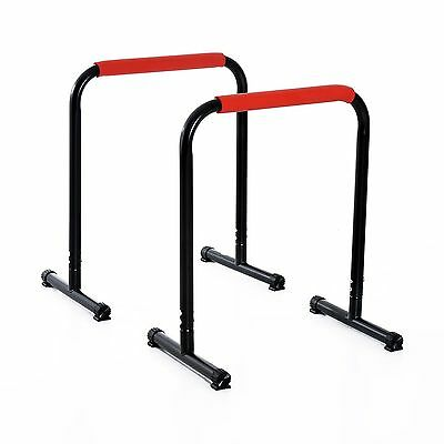 Push Up Bar Stands With 4 PP Non-Slip Foot Lightweight And Durable -Black