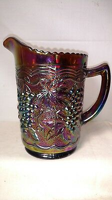 Imperial Grape Carnival Glass Pitcher 6 inch