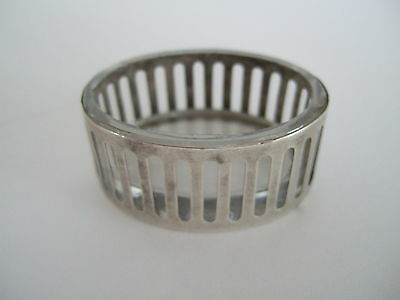 Antique Webster Co. Sterling salt cellar with glass liner