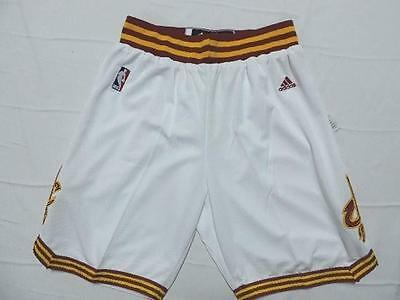 NEW Cavs Basketball Shorts Cleveland Cavaliers Embroidered Athletic Pants White