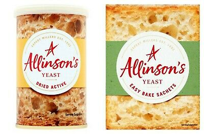 Allinson Dried Active Yeast 125g / Easy Bake Yeast 7g - Choose your Quantity